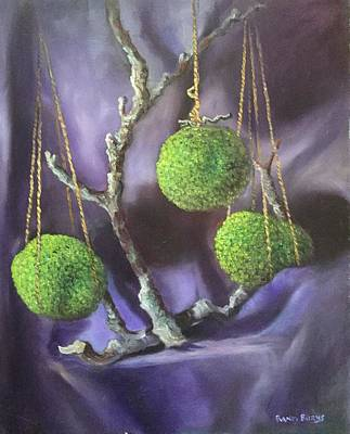 Painting - Lime And Violet In Harmony by Randol Burns