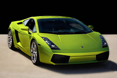 Photograph - Lime-borghini by Peter Tellone
