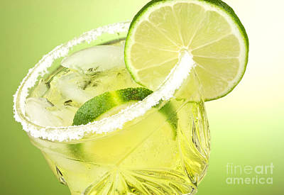 Limes Photograph - Lime Cocktail Drink by Blink Images