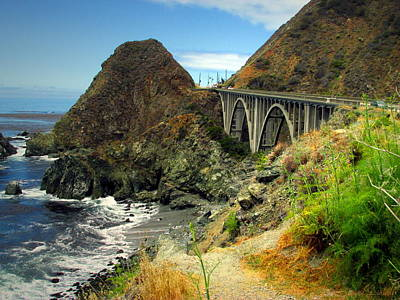 Photograph - Lime Creek Bridge Highway 1 Big Sur Ca by Joyce Dickens