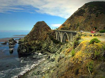 Photograph - Lime Creek Bridge Highway 1 Big Sur Ca Three by Joyce Dickens