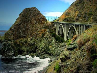 Photograph - Lime Creek Bridge Highway 1 Big Sur Ca Two by Joyce Dickens