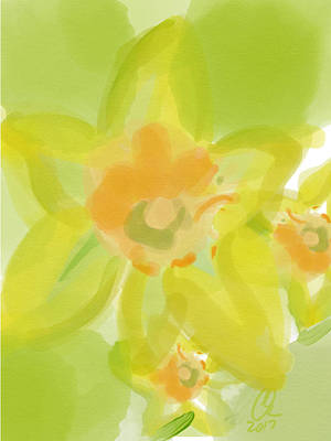 Lime Flower Burst Art Print by Carl Griffasi