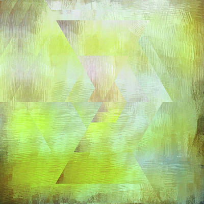 Open Impressionism California Desert - Lime Green Abstract Shapes by Brandi Fitzgerald