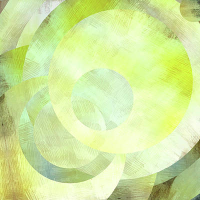 Share Mixed Media - Lime Green Circles And Spheres by Brandi Fitzgerald