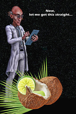 Digital Art - Lime In The Coconut by John Haldane