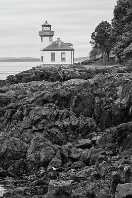Photograph - Lime Kiln Light Black And White by Dan Sproul