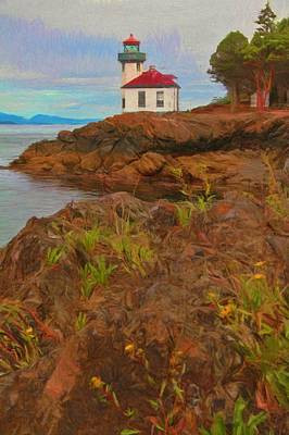Painting - Lime Kiln Lighthouse by Dan Sproul
