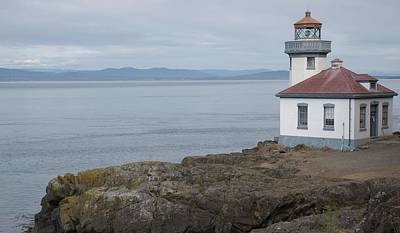 Photograph - Lime Kiln Lighthouse Panorama by Dan Sproul