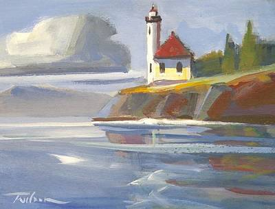 Painting - Lime Kiln Lighthouse by Ron Wilson