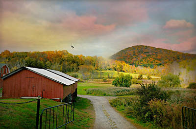Autumn In The Country Photograph - One Fine Day by Diana Angstadt