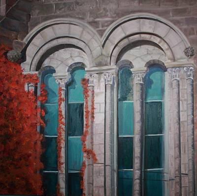 Annette Kinship Wall Art - Painting - Lime Light Of Fall by Annette Kinship