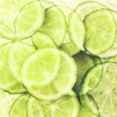 Photograph - Lime Slices by Linde Townsend