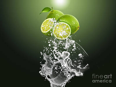 Lime Splash Art Print by Marvin Blaine