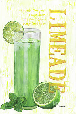 Antique Water Pitcher Painting - Limeade by Debbie DeWitt