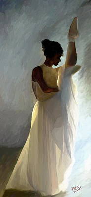 Ballet Painting - Limelight by James Shepherd