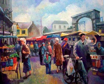 Painting - Limerick Market Ireland by Paul Weerasekera