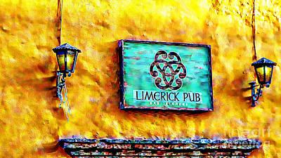 Limerick Pub Art Print by John  Kolenberg