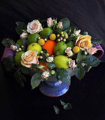 Photograph - Limes And Oranges Still Life by Sarah Phillips