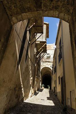 Photograph - Limestone And Sharp Shadows - Old Town Noto Sicily Italy by Georgia Mizuleva