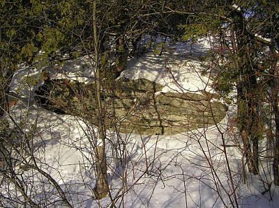 Limestone And Snow Art Print by Richard Mitchell