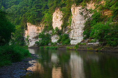 Limestone Bluffs Along Upper Iowa Art Print