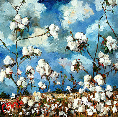 Limestone County Cotton Art Print by Carole Foret