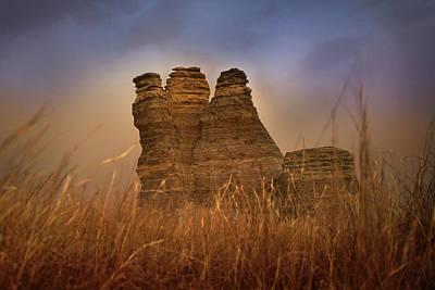 Castle Rock Photograph - Limestone Dust by Thomas Zimmerman