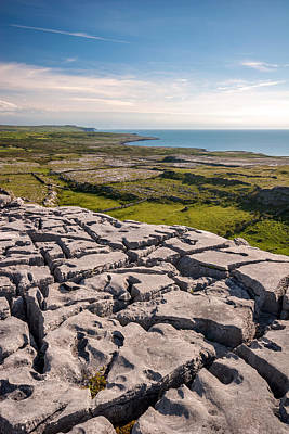 Photograph - Limestone Landscape Of The Burren Ireland by Pierre Leclerc Photography