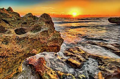 Photograph - Limestone Sunrise by David A Lane