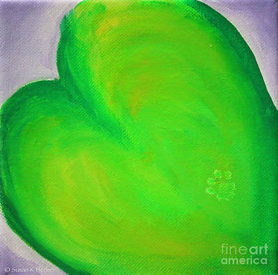 Painting - Limey Hearts by Susan Herber