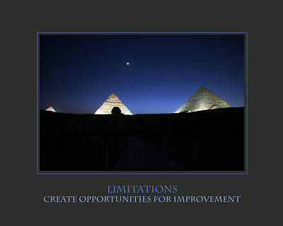 Limitations Create Opportunities For Improvement Art Print by Donna Corless