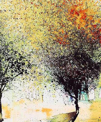 Abstact Landscapes Painting - Leaf Series 2 by Julia S Powell