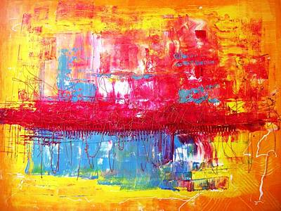 Pietyz Abstractz Artz World Painting - Limitz by Piety Dsilva