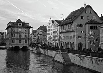Photograph - Limmat Riverfront In Zurich by Matt MacMillan