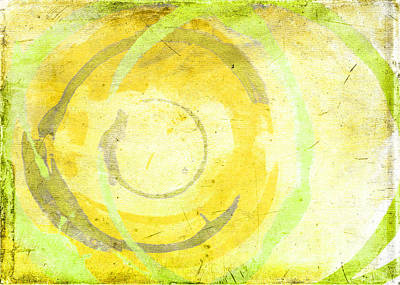 Contemporary Abstract Digital Art - Limoncello by Julie Niemela
