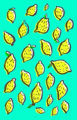 Lemon Drawing - Limones De Primavera by Studio Sananikone