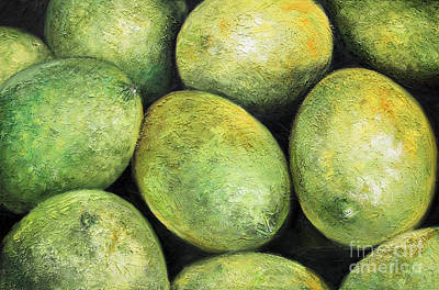 Chicana Mixed Media - Limones by Sonia Flores Ruiz