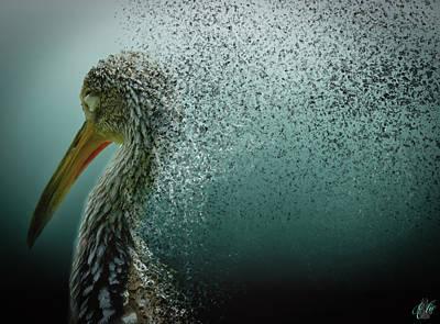 Animals Digital Art - Limpkin Dispersion by Elie Wolf