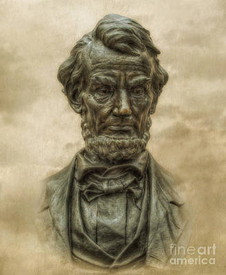 Gettysburg Address Digital Art - Lincoln Address Memorial Statue by Randy Steele