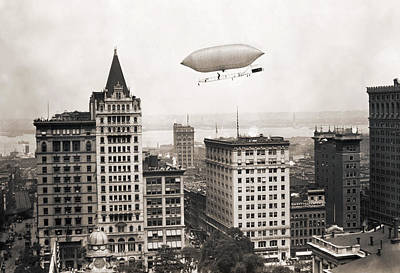 Photograph - Lincoln Beacheys Airship by Granger