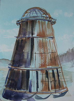 Painting - Lincoln Burn Cone by Lynne Haines