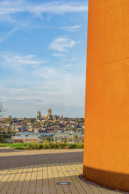 Photograph - Lincoln Cathedral From The Ibcc by Gary Eason