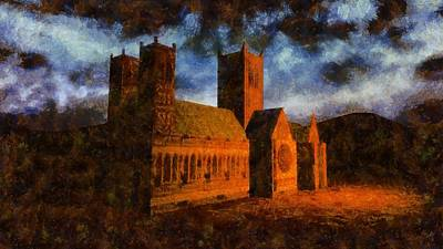Medieval Painting - Lincoln Cathedral by Esoterica Art Agency