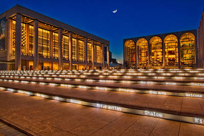 Lincoln Center At Twilight Art Print by Susan Candelario