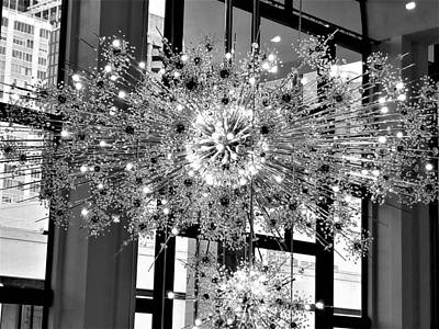 Photograph - Lincoln Center Chandelier by Rob Hans