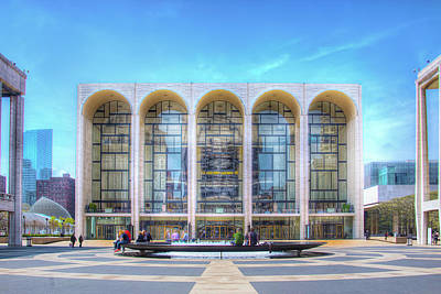 Metropolitan Opera House At Lincoln Center Photograph - Lincoln Center by Mark Andrew Thomas