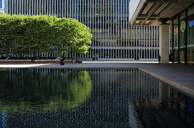 Photograph - Lincoln Center's Green Oasis by Cornelis Verwaal