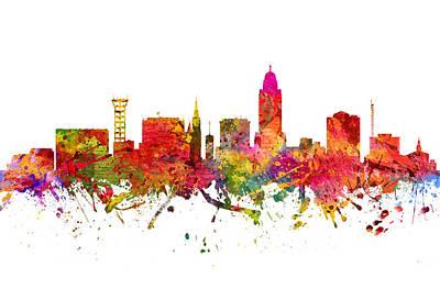 Lincoln Cityscape 08 Art Print