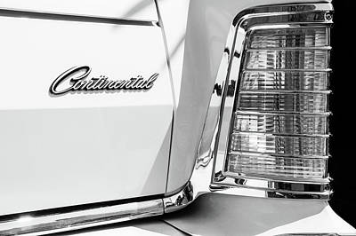 Photograph - Lincoln Continental Mark Iv Head Light -0149bw by Jill Reger